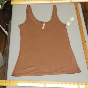 small brown tank top